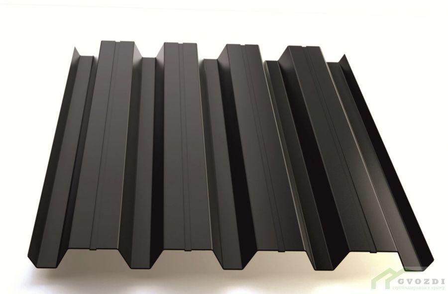 Профильный лист Н-60 оцинкованный с полимерным покрытием (Профнастил Н60-845) длина 6,0 м, толщина 0,54 мм, RAL