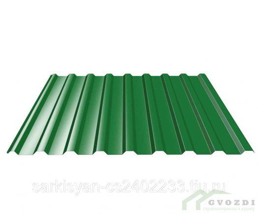 Профильный лист С-21 оцинкованный с полимерным покрытием (Профнастил С21-1000) длина 3,0 м, толщина 0,4 мм, RAL