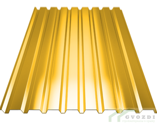 Профильный лист С-8 оцинкованный с полимерным покрытием (Профнастил С8-1150) длина 2,0 м, толщина 0,54 мм, RAL