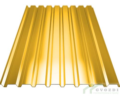 Профильный лист С-8 оцинкованный с полимерным покрытием (Профнастил С8-1150) длина 3,0 м, толщина 0,54 мм, RAL