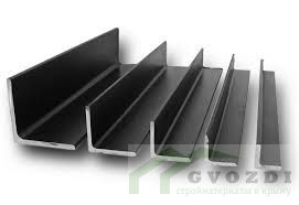 Уголок равнополочный металлический 75х75х5, длина 3,0 метра, ширина полки 75 мм, толщина 5 мм, ГОСТ 8509-93