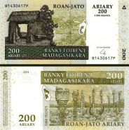 Мадагаскар 200 ариари 2004 (2016) UNC ПРЕСС ИЗ ПАЧКИ