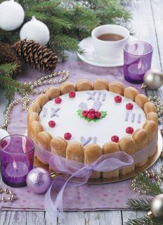 Почтовая открытка Новогодний торт