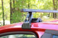 Универсальный багажник на крышу Lada X-Ray, Евродеталь, вид А, стальные прямоугольные дуги