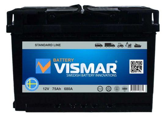 Автомобильный аккумулятор АКБ Vismar (ВИСМАР) 6СТ-75 75Ач п.п.