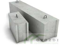 Блок фундаментный ФБС 12.3.6, длина блока 1180 мм, ширина блока 300 мм, высота блока 580 мм, ГОСТ 13579-78