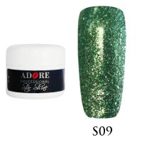 Гель Star Shine №9 (зеленый) Adore Professional, 5 мл
