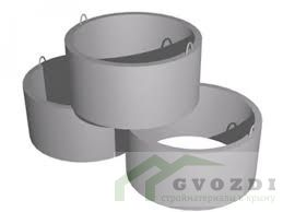 Кольцо бетонное КС 20.6, диаметр кольца 2,0 метра, высота кольца 0,6 метра, ГОСТ 8020-90