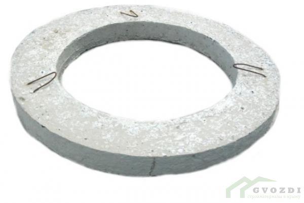 Кольцо бетонное опорное КО 6, диаметр кольца 0,85 метра, высота кольца 60 мм, ГОСТ 8020-90