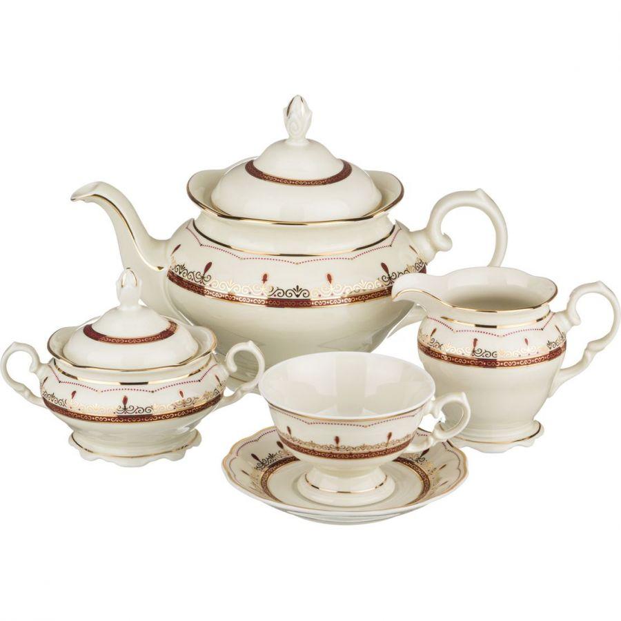 """Чайный сервиз на 6 персон """"Изабель"""", 15 пр., 1200/175/200/250 мл"""