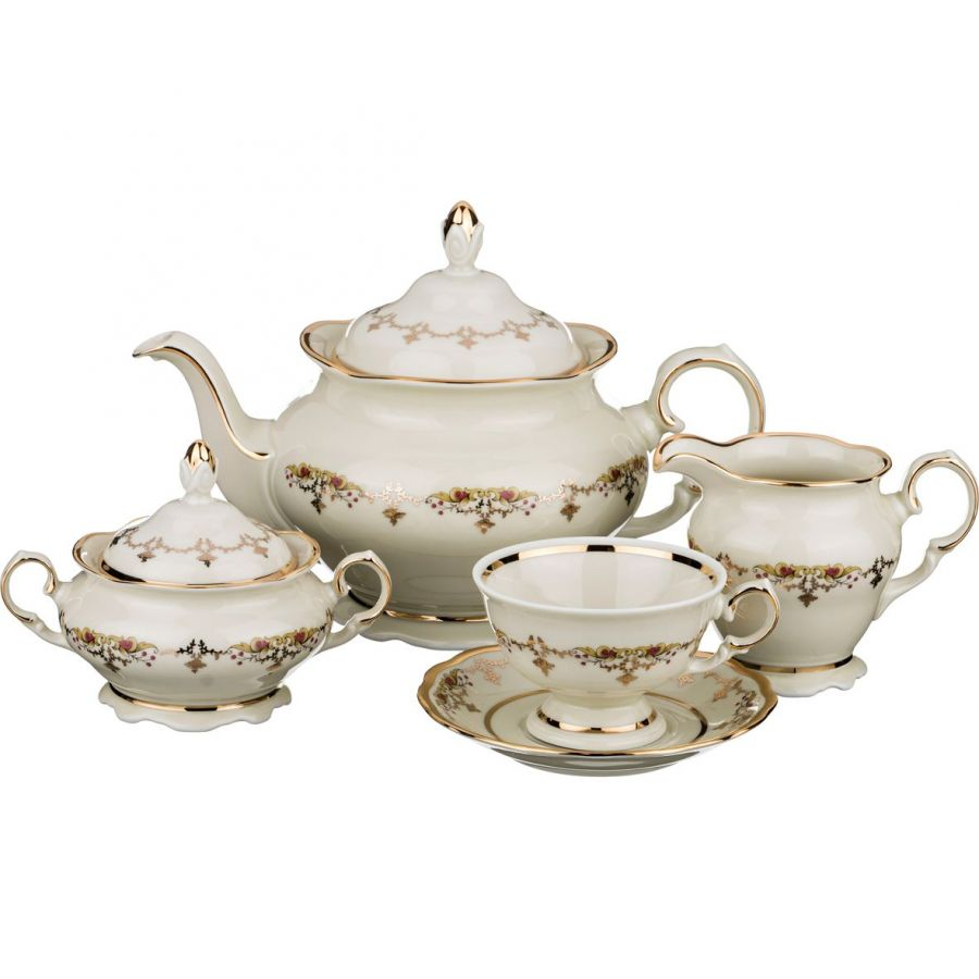 """Чайный сервиз на 6 персон """"Каир"""", 15 пр., 1200/175/200/250 мл"""