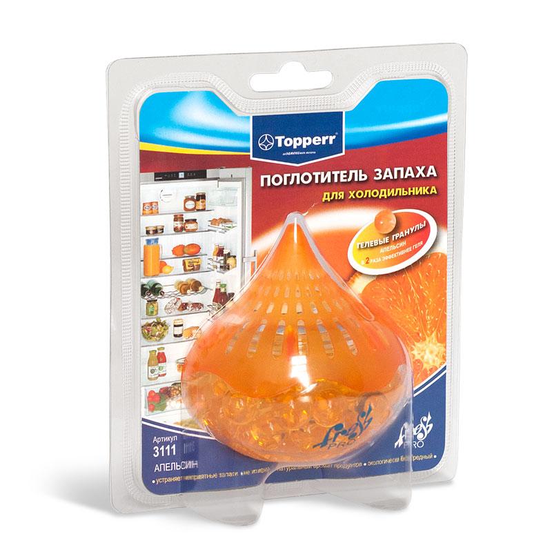 Гелевый поглотитель запаха для холодильников Апельсин 3111