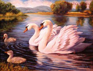 Картина по номерам Лебеди Y0310