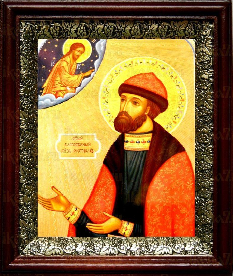 Ростислав Киевский (19х22), темный киот