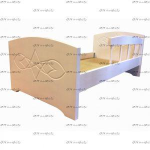Кровать Жанна с бортиком (ВМК Шале), любые размеры