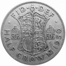 Великобритания 1/2 кроны 1950 г.
