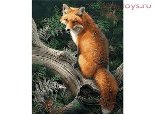 Картина по номерам Лиса в лесу 8013