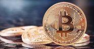 Монета Bitcoin, Биткоин криптовалюта - золотая в капсуле