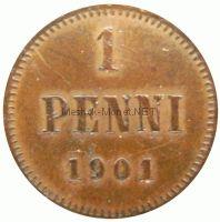 Финляндия 1 пенни 1907 г.