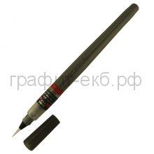 Ручка-кисть Pentel Brush Pen для каллиграфии черная пигментные чернила тонкая XFP5F
