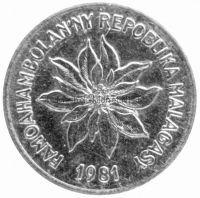 Мадагаскар 1 франк 1981 г.