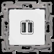 Розетка USB 2-ая 240В/5В 2400мА Legrand Etika Бел