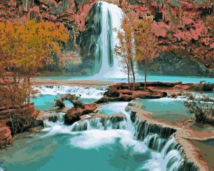 Картина по номерам Водопад E588