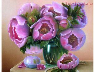 Картина по номерам Розовые пионы E525