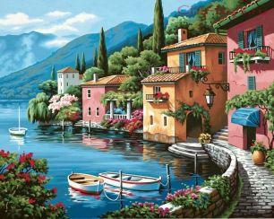 Картина по номерам Альпийская деревня E001