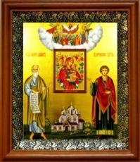 Симон Кананит и Пантелеймон Целитель (19х22), светлый киот