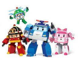 Команда из 4-х трансформеров Робокар поли (Рой, Поли, Эмбер, Хэлли)