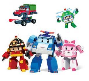 Игровой набор из 5 транформеров Робокар Поли