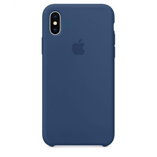 Silicone Case для iPhone X/Xs/XsMAX (тёмный кобальт)