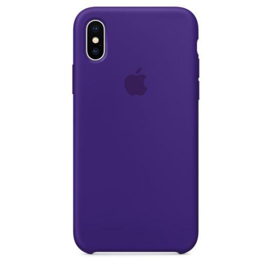 Silicone Case для iPhone X/Xs/XsMAX (ультрафиолет)