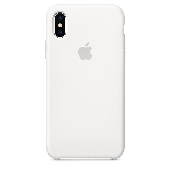 Silicone Case для iPhone X/Xs/XsMAX (белый )
