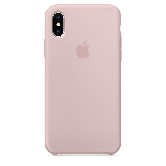 Silicone Case для iPhone X/Xs/XsMAX (розовый песок)