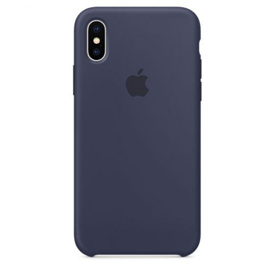 Silicone Case для iPhone X/Xs/XsMAX (тёмно-синий)