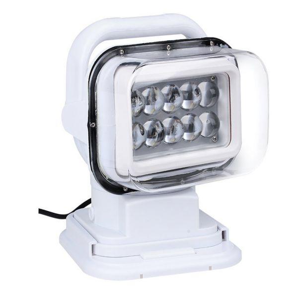 Белый светодиодный LED фара-искатель 12V с дистанционным управлением 50W