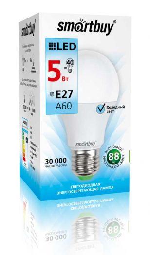Светодиодная (LED) Лампа Smartbuy-A60-05W/4000/E27
