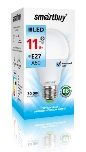Светодиодная (LED) Лампа Smartbuy-A60-11W/4000/E27