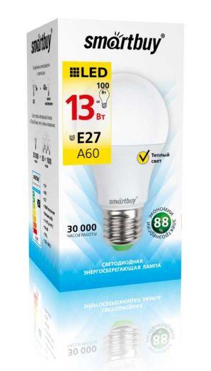 Светодиодная (LED) Лампа Smartbuy-A60-13W/3000/E27