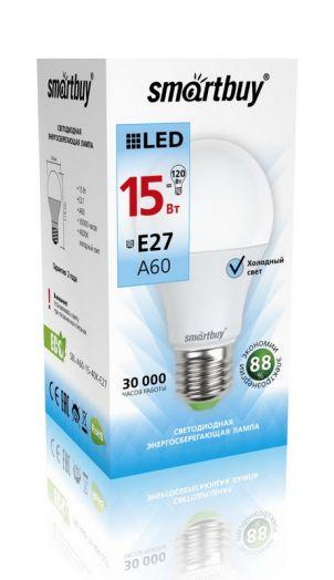 Светодиодная (LED) Лампа Smartbuy-A60-15W/4000/E27