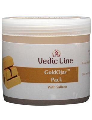 Маска для лица Аура золота | гелевая с экстрактом шафрана и золотой пудрой | 100 мл | Vedic Line