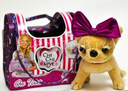 Мягкая игрушка Chi-Chi Love собачка Путешественница с сумкой-переноской 20 см