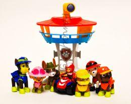 Игровой набор из 6-ти щенков и райдера серии Джунгли и мини офиса спасателей (Щенячий патруль)