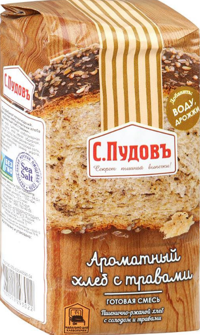 ПУДОВ Ароматный хлеб 500 г
