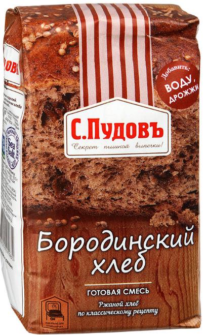 ПУДОВ Бородинский хлеб 500 г