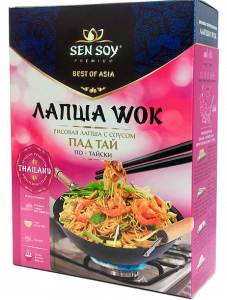 СЭН-СОЙ Лапша ВОК по-тайски рисовая с соусом ПАД-ТАЙ и кунжутом 235 г