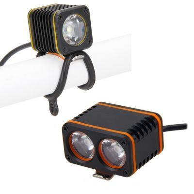 Велофара или налобный фонарь CREE XM-L, питание от USB (1 или 2 светодиода)
