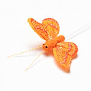 5.5см Бабочка декор оранжевый №1 (арт.2394-1)